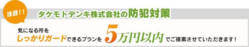 タケモトデンキ株式会社の防犯対策