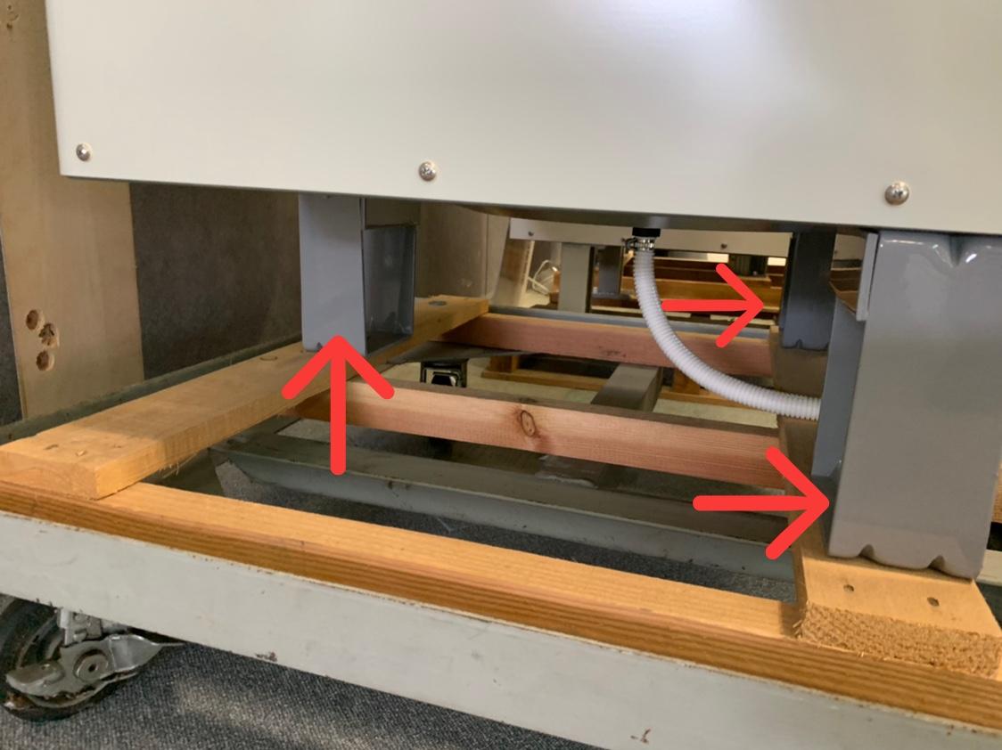 ユノカエコキュートの3本脚部分写真
